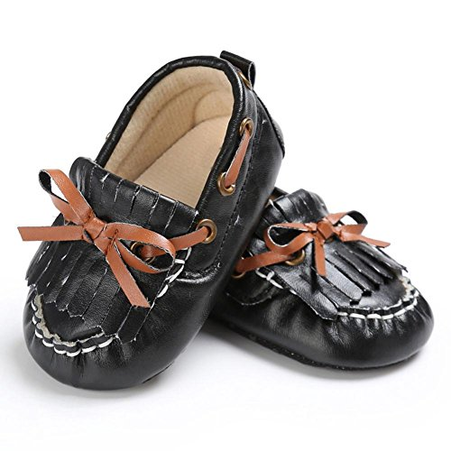 Schuh Schuhe Neugeborene Soft Erbsen Schwarz Leder Switchali Krippe Sole 0qwAgaAv