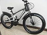 Amardeep Cycles Dual Suspension Downhill Fat Mountain Bike 21gears Black,26x4 Inches