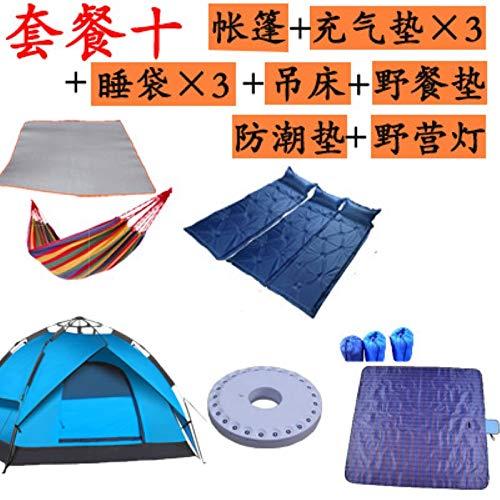 WXZB Outdoor-Outdoor-Automatik 3-4 Camping Zeltlager, Zwei Zimmer, eine Halle, Regenschutz, Familien-Suite, 3 bis 4 Personen Konto Paket zehn (2 Konto)