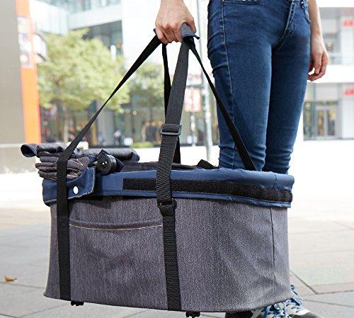 IbiyayaExpress Travel System Denim Pet Stroller 4