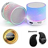 #10: Wonderford LED Light Crack Stereo Portable Wireless Bluetooth Speaker With S530 Bluetooth Headset (One Year Warranty,Colour may vary)
