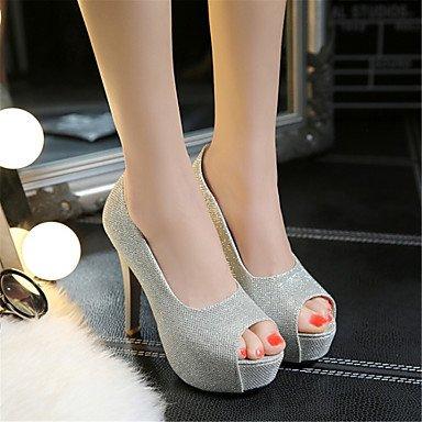 Moda Donna Sandali Sexy donna tacchi Primavera / Estate / Autunno Comfort Glitter Wedding / Ufficio & Carriera / Party & Sera / HeelSparkling Black