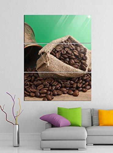 Acrylglasbilder 3 Teilig 100x120cm Kaffee Bohnen Coffee Sack Küche Acrylbild Acrylglas Acrylbilder...
