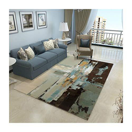 William 337 Teppiche Rechteckiger Teppich American Home Wohnzimmer Couchtisch Teppich Einfache Europäische Teppich Schlafzimmer Mat Leicht Zu Reinigen Matten (Farbe : D, größe : 180cm*280cm) -