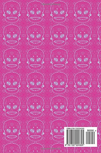 Notebook: Sugar Skull , Day of The Dead , Composition Book .  Cornell Notes - 150 Pages , 6 x 9 , Cream , Pink Blue Sugar Skull Tiled