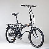 Bicicletta Elettrica IFM Nera Pieghevole Batteria Litio