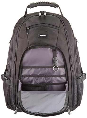 Best amazon backpacks in India 2020 AmazonBasics Adventure Laptop Backpack - Fits Up to 17-Inch Laptops Image 4