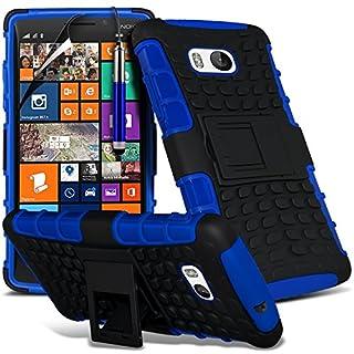 i-Tronixs (blau) Das Nokia Lumia 930 hülle Hochwertige Starke und haltbare Survivor Hard robuste Stoßfest Heavy Duty bei zurück Stand Skin Case Cover& Screen Protector