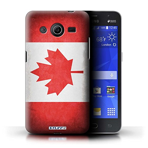 Kobalt® Imprimé Etui / Coque pour Samsung Galaxy Core 2 / Pays de Galles/gallois conception / Série Drapeau Canada/canadien