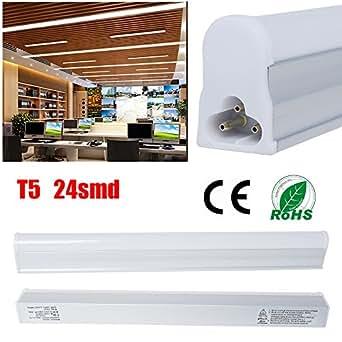 THG Ampoule T5 24 SMD 2835 0,3 m 1 m 5 W 400 lm Blanc chaud AC intégré 85–260 V Tube LED