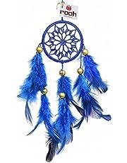 rooh Handmade Positivity Dream Catcher Crochet Hangings (Royal Blue)