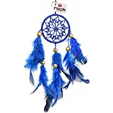 Rooh Dream Catcher ~Royal Blue Crochet ~ Handmade Hangings for Positivity (Can be used as Home Décor Accents, Wall Hangings, Garden, Car, Outdoor, Bedroom, Key chain, Meditation Room, Yoga Temple, Windchime)