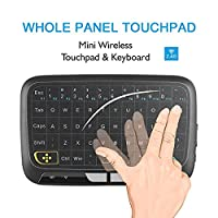 Wireless Touch Keyboard, LESHP 2.4GHz Full Panel Mini Touchpad Mouse Remote Control for Android TV Box, HTPC, IPTV, PC, PS3, Xbox 360, Pad