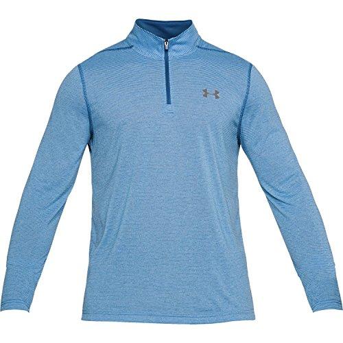 Under Armour HeatGear Threadborne 1/4 Zip Trainingsshirt Herren Marokkoblau