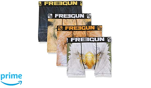 FREEGUN Boys Boxer Garcon Shorts Pack of 4 Size: 6//8 Multicolor F Multicolour 6 Years