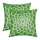 CaliTime Cushion Covers Pack of 2 Soft Canvas Throw Pillow Covers Cases for Couch Sofa Home Decor...