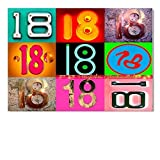 DigitalOase Glückwunschkarte 18. Geburtstag Geburtstagskarte Grußkarte Format DIN A4 A3 Klappkarte PanoramaUmschlag #LETTERS