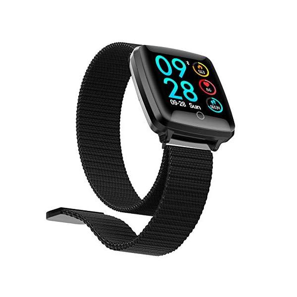 Reloj SAMA Fitness Trackers,Monitor de Frecuencia Cardíaca IP67,Rastreador de Actividad a Prueba de Agua,Reloj de Calorías Para Podómetro Con Pantalla a Color y Monitor de Sueño,Pulsera Inteligent 2