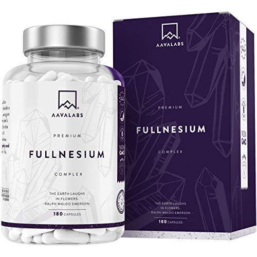 Complejo de Magnesio Fullnesium - 180 Cápsulas - 400 mg/Dosis Diaria - Óxido de...