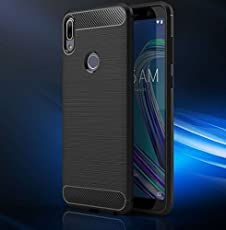 Bracevor Asus ZenFone max Pro M1 Back Case Cover | Flexible Shockproof TPU | Brushed Texture - Black