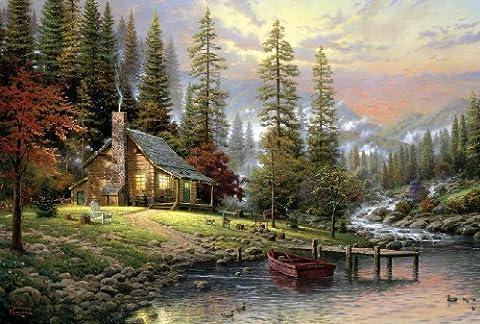 Haus in den Bergen. Puzzle 500 Teile