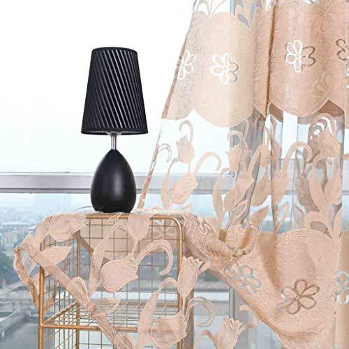 ToDIDAF Transparente Gardinen Vorhang, Blätter Vorhang Tüll Fenster Behandlung Voile drapieren Volant 2 Stoffbahnen für Zuhause Wohnzimmer Schlafzimmer Dekoration, 100 x 270 cm (Beige) (Fenster Volant Spitze Schal)
