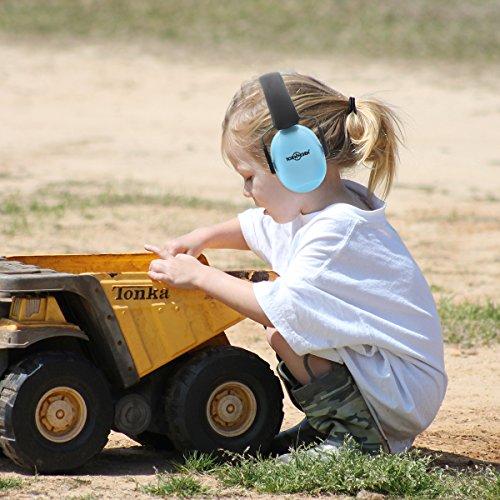 Toennesen Casque anti bruit pour Enfants et Bébé Caches-Oreilles Protection Auditive pour la Réduction du Bruit Portable et Confortable Assurer NRR 31 dB avec Bandeau Adjustable【18 mois de garantie】 (bleu)