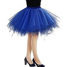 Faldas de Tulle Falda corta de Cancan de las mujeres Retro Falda Rockabilly Traje de Danza Ballet Tutu Pettiskirt Traje de Carnaval