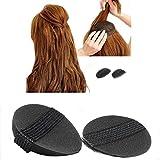 4Pcs / 2Pair Schwamm Bump It Up Volumen Haar Base Anreden Einsatz Werkzeug Haar Accessoires, Schwarz