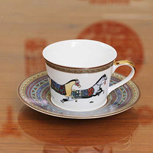 ycmjh Einfache Kaffeetasse European Creative Style British Blue Zebra WeihnachtenOriental Horse Nachmittagstee-Set 05