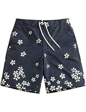 OME&QIUMEI Secado Rápido Playa Pantalones Sueltos Boxer Masculino Troncos Spa Balneario Microejection Shorts Xxxl...