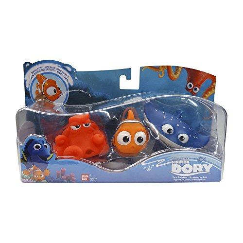 Looking for Dory - Set of 3 Bathroom figures Nemo, Hank and Maestro Raya, Blue (Bandai 35682)