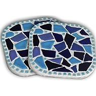 Kit mosaico Craft, un paio di sottobicchiere, Bleu
