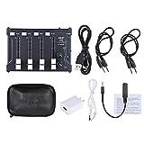 ammoon Mixer 4 Canali Professionale Mini Tasca Mono Stereo Audio DJ Sound USB Alimentato Connessione BT Cellulare Nero