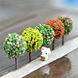 #10: Easybuy India Generic 5Pcs/Lot 5 Colors 3.6Cm Simulation Tree Flower Ball Tree Micro Landscape Ornaments Accessories For Home Garden Decoration