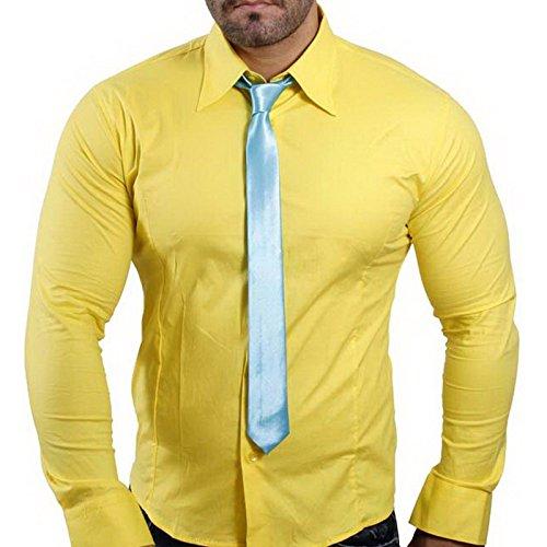 Subliminal Mode -  T-shirt - Maniche lunghe  - Uomo Giallo