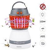 Lampada Anti Zanzare Zanzariera Elettrica - Bawoo Lanterna campeggio LED Ammazza Killer zanzare mosche Impermeabile IP67 USB Ricaricabile 2200mAh 3 Luminosità bambini interno esterno(2018 NUOVO)