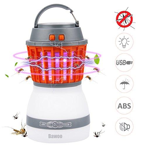 Bawoo Campinglampe UV Licht Insektenvernichter Mückenkiller, Camping Lantern IP67 wasserdicht tragbar Mückenvernichter Zeltlampe USB Wiederaufladbar für Innen und Außen - Uv-licht-lampe