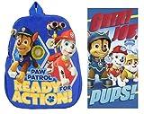 Familando Paw Patrol Plüsch Rucksack für Kindergarten / Krippe 0121991 Plus Strandtuch 70x140 cm; 100% Baumwolle