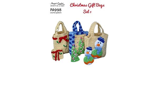 Crochet Pattern Christmas Bags Set 1 PA998 R eBook: Weldon