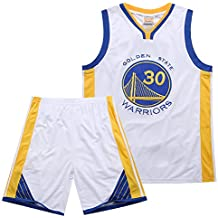 Sport-Jerseys Juego De Bordado Real Warriors Curry 30th Traje De Baloncesto De Verano Conjunto