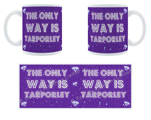 The only Way Is Tarporley-– Stilisierte geschoben Keramik Tasse