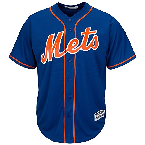Majestic New York Mets Cool Base MLB Trikot Alternate Home Blau L