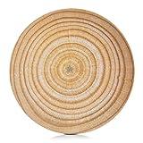 Zeller 25113 Schale 'Wood', flach, Bamboo Fiber, ca. 28 x 28 x 2 cm