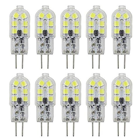 Dayker 10x Ampoule LED G4 2W SMD 2835 AC DC