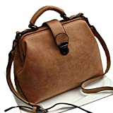 MMTC Vintage Umhängetasche Lady Handtasche Schultertasche Leder-Ledertasche,7