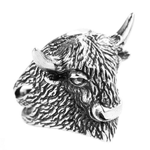 Sets Online Kostüm Luna (Bishiling Modeschumck Herren Ring Edelstahl Stier Partnerring Silberring Ringgröße 70)