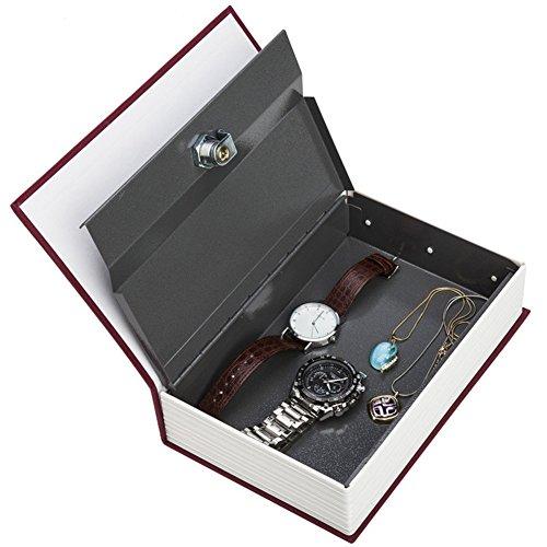 zantec Safe Box Creative Wörterbuch Geheimnis Buch Spardose verstecktem Safe Sicherheit Key Lock Home Dekoration rot