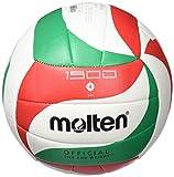 Molten V5M1500 - Ballon de volleyball, couleur blanc/vert/rouge, taille 5