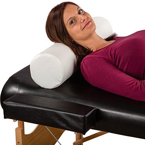 MOVIT® XL Nackenrolle weiß, 68 (L) x 15 (Ø) cm Lagerungsrolle, Kissen für Massageliege Knierolle Therapie Rolle Nackenkissen - 2